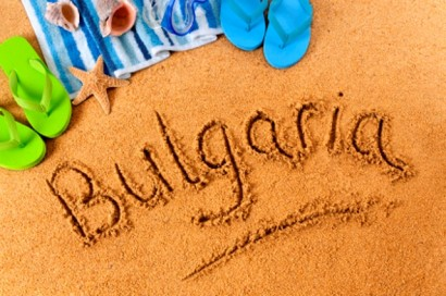 Bulgaria beach writing